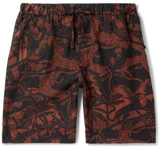 Desmond & Dempsey Hercules Printed Cotton Pyjama Shorts