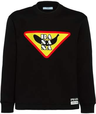 68f40aea52b7 Print Logo Sweatshirt Prada At · Farfetch Iqw0FpF