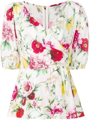 Dolce & Gabbana floral wrap blouse