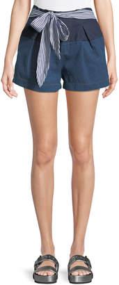 J.o.a. Tie-Waist Denim Shorts