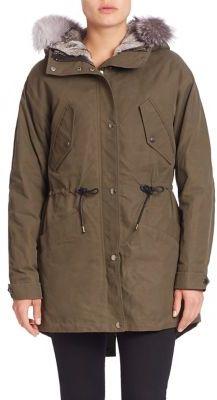 Andrew Marc Miranda Two-In-One Fox Fur Trim Parka & Rabbit Fur Vest $1,195 thestylecure.com