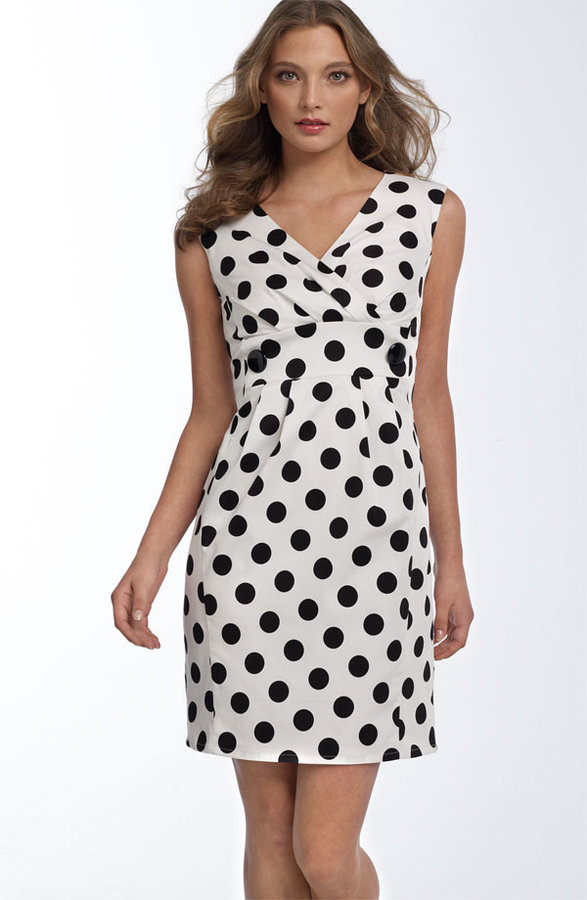 Helene Berman Polka Dot Cotton Sheath Dress