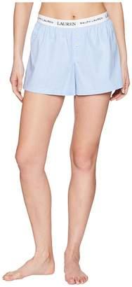 Lauren Ralph Lauren Logo Elastic Boxer Women's Pajama