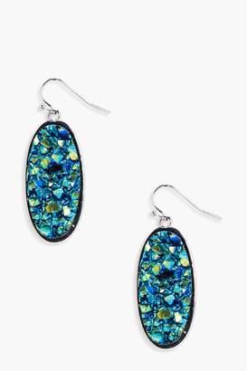 boohoo Katie Galactic Stone Earrings