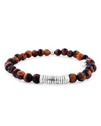 Tateossian Men's Tiger Eye Bead Bracelet