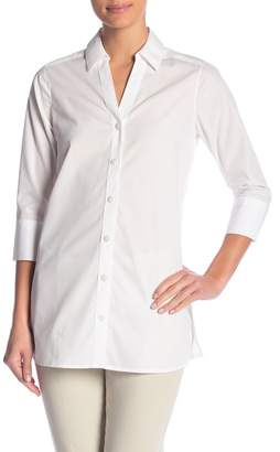 Foxcroft Rose 3/4 Sleeve Solid Tunic