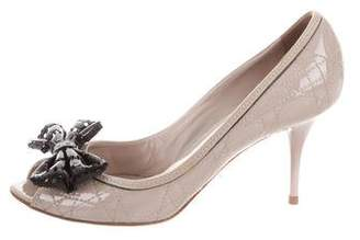 Christian Dior Patent leather Cannage Pumps