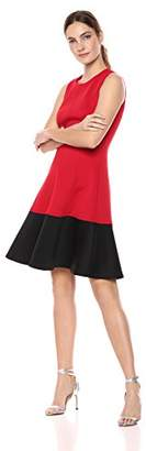 Calvin Klein Women's Color Block Fit and Flare Dress