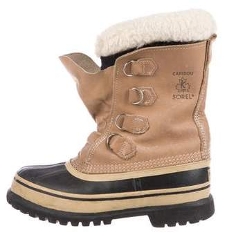 Sorel Caribou Leather Mid-Calf Boots