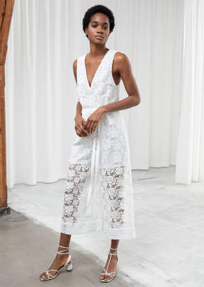 And other stories Sleeveless Floral Lace Jumpsuit