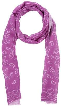 Silk Square Scarf - grey violet by VIDA VIDA
