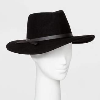 Universal Thread Women's Felt Wide Brim Fedora Hat - Universal ThreadTM Black