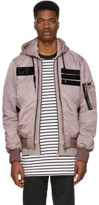 Diesel Pink J-Kunio Hooded Bomber Jacket