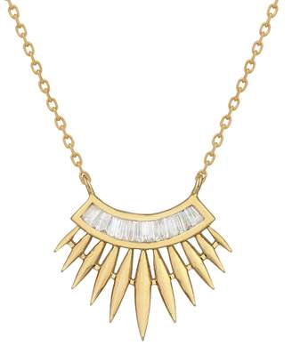 Celine Daoust Rising Sun Baguette Diamond Necklace - Yellow Gold