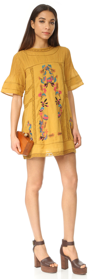 Free People Perfectly Victorian Embroidered Mini Dress 15
