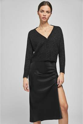Anine Bing Dolly Silk Skirt - Black