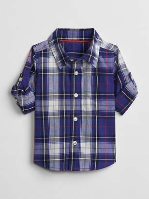 Gap Plaid Convertible Shirt