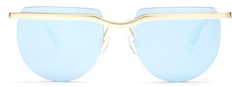 LE SPECS Mafia Moderne flat-top sunglasses $67 thestylecure.com