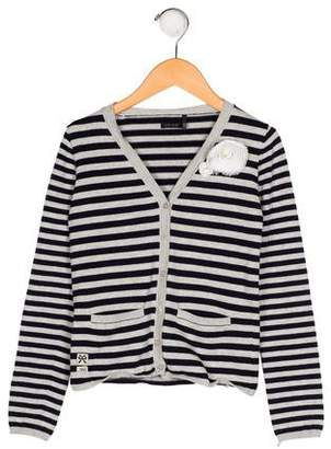 Ikks Girls' Striped Knit Cardigan