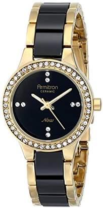 Swarovski Armitron Women's 75/5210BKGPBK Crystal-Accented Watch