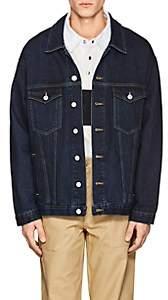 Martine Rose Men's Oversized Denim Jacket-Blue
