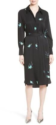 Women's Diane Von Furstenberg Stretch Silk Shirtdress $428 thestylecure.com