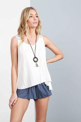 POL Zoe Embroidered Tank
