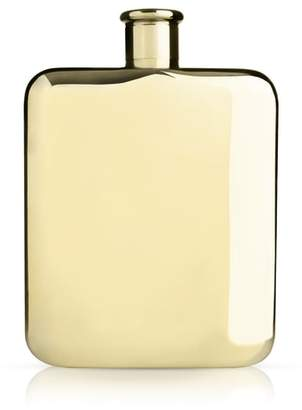 True Fabrications Viski Belmont Gold Plated Flask