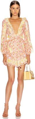 Zimmermann Goldie Short Dress in Spliced | FWRD