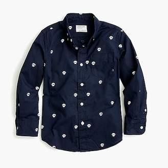 J.Crew Boys' critter button-down shirt in skulls