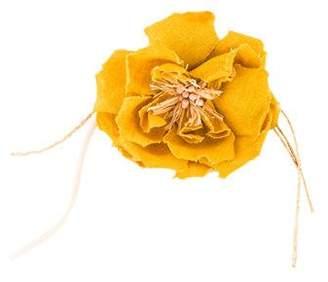 Dolce & Gabbana Linen Floral Brooch