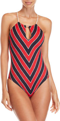 MICHAEL Michael Kors High Neck One-Piece Swimsuit
