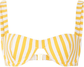 Onia +WeWoreWhat Sorrento Striped Bikini Top