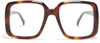 Givenchy Oversized Square Frame Acetate Glasses - Womens - Tortoiseshell