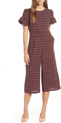 1901 Cropped Check Jumpsuit