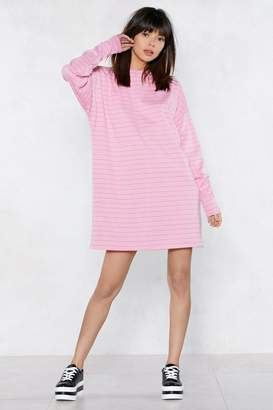 Nasty Gal Everythings Better in a Striped Sweater Dress