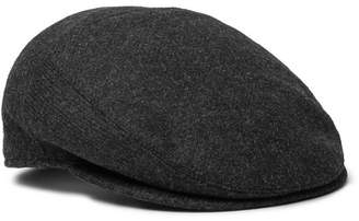 Borsalino Wool Flat Cap - Men - Charcoal