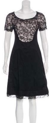 Rochas Short Sleeve Knee-Length Dress