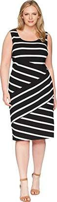Adrianna Papell Women's Ottoman Striped Sheath