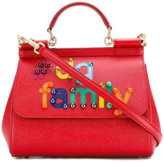 Dolce & Gabbana tDG family patch Sicily shoulder bag