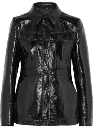 ALEXACHUNG Vinyl Jacket - Black