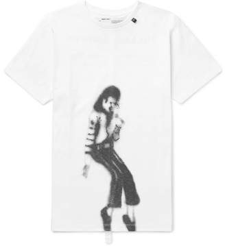 Off-White Off White Slim-Fit Printed Cotton-Jersey T-Shirt - Men - White