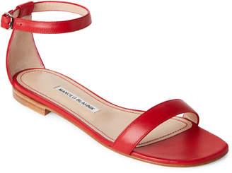 Manolo Blahnik Chafla Ankle Strap Flat Sandals