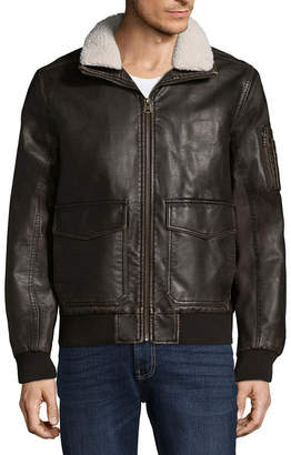 Dockers Aviator Bomber Jacket With Sherpa Collar