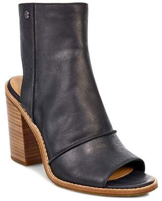 UGG Valencia Leather Peep Toe Bootie