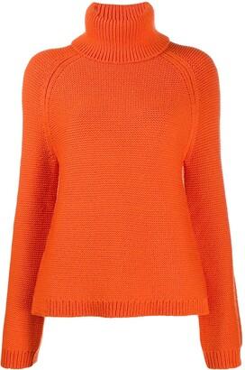 Joseph chunky knit roll neck jumper