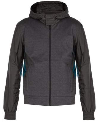 Prada Hooded Windbreaker Jacket - Mens - Dark Grey