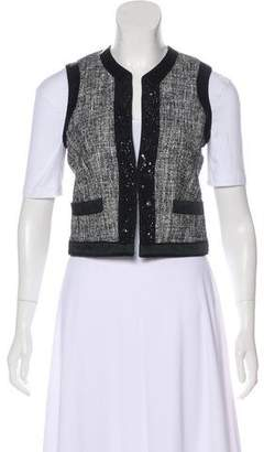 Etro Tweed Embellished Vest