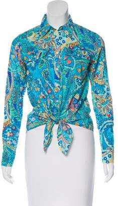 Lauren Ralph Lauren Printed Button-Up Top