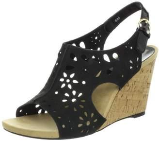 Anne Klein Ak Women's Taja Nubuck Wedge Sandal